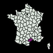 carte de répartition de Fermocelina liguriella (Millière, 1879)