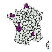 carte de répartition de Lithophane leautieri (Boisduval, 1829)