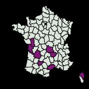 carte de répartition de Oegoconia caradjai (Popescu-Gorj & Capuse, 1965)