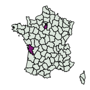 carte de répartition de Pandemis sp.