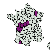 carte de répartition de Scopula tessellaria (Boisduval, 1840)
