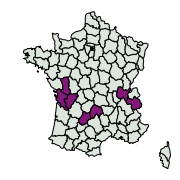 carte de répartition de Shargacucullia lychnitis (Rambur, 1833)