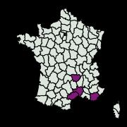 carte de répartition de Aglossa brabanti (Ragonot, 1884)