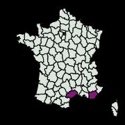 carte de répartition de Anomalotinea liguriella (Millière, 1879)