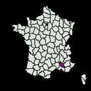 carte de répartition de Calyciphora adamas (Constant, 1895)