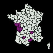 carte de répartition de Cameraria ohridella (Deschka & Dimic, 1986)