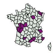 carte de répartition de Colias alfacariensis (Ribbe, 1905)