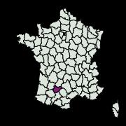 carte de répartition de Monochroa melagonella (Constant, 1895)