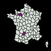 carte de répartition de Cyclophora sp.