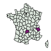 carte de répartition de Eupithecia sp.
