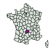 carte de répartition de Xanthorhoe sp.