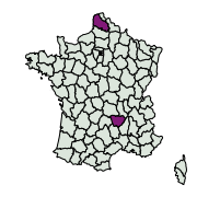carte de répartition de Aplocera sp.