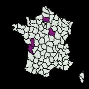 carte de répartition de Cydia molesta (Busck, 1916)