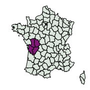 carte de répartition de Cilix hispanica (Pérez De-Gregorio et al., 2002)
