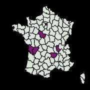 carte de répartition de Mesapamea sp.