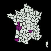 carte de répartition de Cnephasia sp.