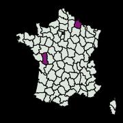 carte de répartition de Phyllonorycter tenerella (Joannis, 1915)