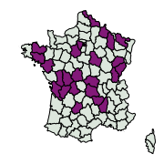 carte de répartition de Erannis defoliaria (Clerck, 1759)
